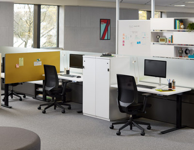 k.™ task by Knoll, Onyx seat fabric and black mesh back