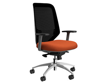 Compel Ceptor Synchro-tilt Tasker, Orange Flexi fabric, aluminum base