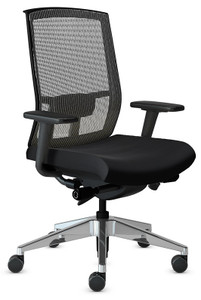 Mayline Gist Mesh Back Task Plus+ Chair with black seat