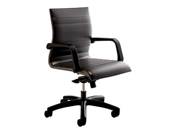 Compel Mojo Knee-tilt Conference with standard black base, arms and vinyl