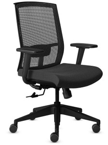Mayline Gist Multi-Purpose Task Chair with Black Seat