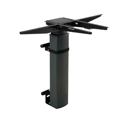 501-19 Single Column Wall Laminate Electric Sit-Stand Desk, black base