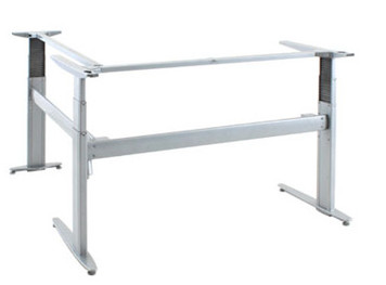 501-27 3 Column Laminate Electric Sit-Stand L-Desk frame with many tabletop size options