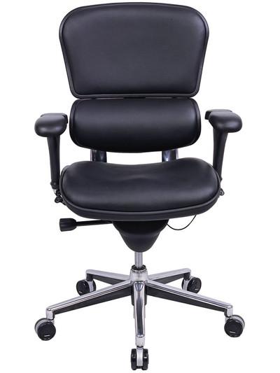 EuroTech Ergohuman Leather Mid Back Executive OfficeChairsUSA