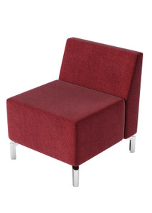 Jefferson Lounge Series - Straight Chair and Back, burgundy