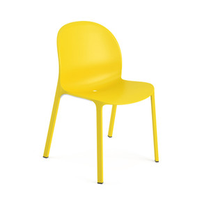 KnollStudio Olivares Aluminum Stacking Chair, Yellow