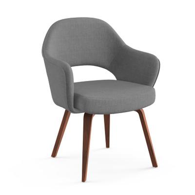 KnollStudio Saarinen Executive Arm Chair, Classic Boucle Smoke With Light  Walnut Legs ...