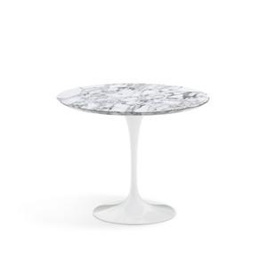 """Eero Saarinen Round Dining Table, 35"""" Arabescato Satin marble"""