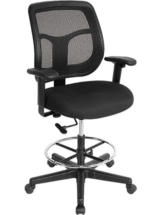 apollo mesh back drafting stool