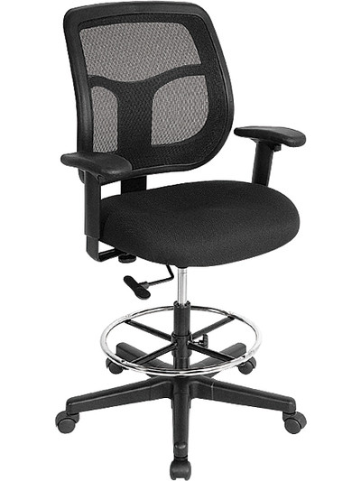 EuroTech Apollo Mesh Back Drafting Stool ...  sc 1 st  Office Chairs Usa & Black Mesh Office Chair | Mesh Drafting Stool | OfficeChairsUSA