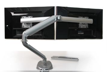 Symmetry King Cobra Dual Array Monitor Arm with Power & USB Module