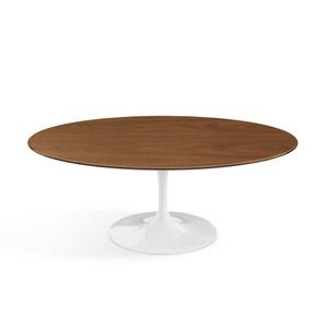 "Eero Saarinen Oval Coffee Table 42"", Light Walnut Veneer"
