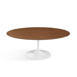 """Eero Saarinen Oval Coffee Table 42"""", Light Walnut Veneer"""