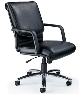 Mayline Mercado Leather Alliance Chair