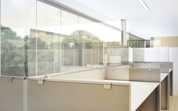 OBEX Desk & Cubicle Mount Privacy Panels with Frameless Clear Acrylic Panel