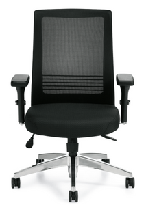 Mesh Back Executive with Patterned Fabric Seat