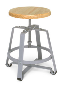 921 Endure Tall Stool, Maple seat with Gray frame
