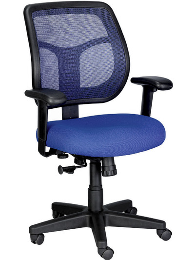 eurotech apollo mesh task chair in blue seat and mesh - Task Chairs