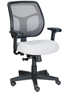 EuroTech Apollo Mesh Task Chair in Silver Grey Seat and Mesh