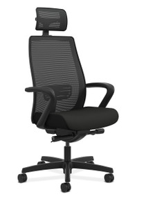 Hon Endorse Mesh High-Back in CU10 Black Seat and mesh headrest