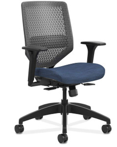 Solve ReActiv Back Chair in Midnight (COMP90) Seat Fabric and Black Frame