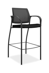 Ignition Ilira Mesh Back Cafe Height Stool with Fixed Arms