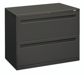 "Brigade 700 Series Two Drawer Lateral File, 36"" in Charcoal (S)"