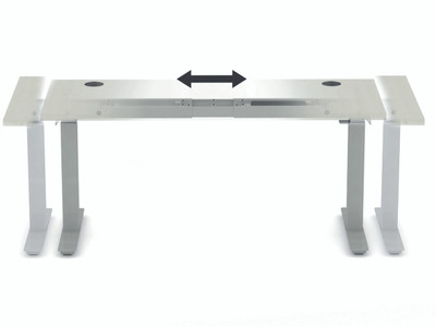 Coordinate Height-Adjustable Desk, telescoping detail
