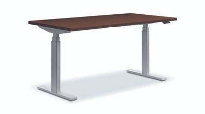 Coordinate Height-Adjustable Desk, Shaker Cherry F
