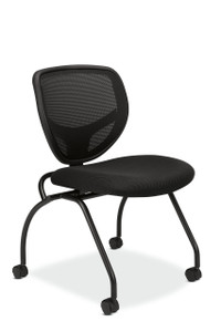 basyx by Hon Mesh Back Nesting Chair on casters