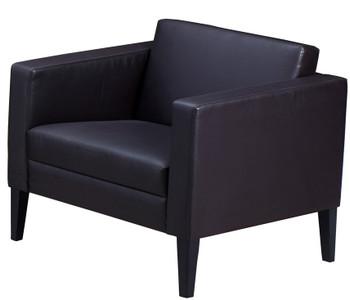 Mayline Prestige Lounge Chair Black Legs