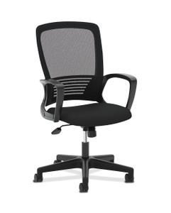 basyx by Hon VL525 Mesh High Back with conference loop arms, side