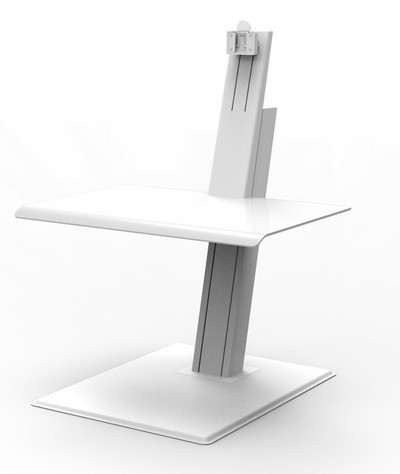 QuickStand Eco Single Monitor Sit Stand Desktop, white