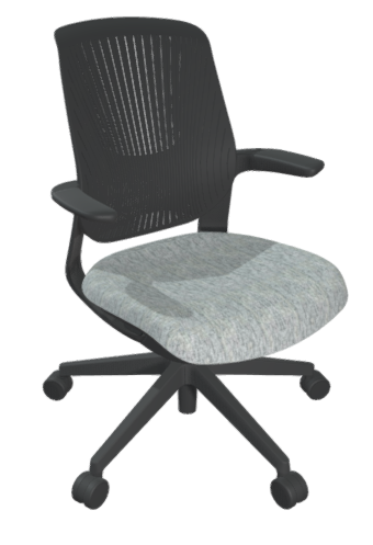 FLYT Black Flex Back Task Chair with upgraded Milan Heather seat