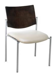 Evolve Upholstered Guest with Espresso Wood Back