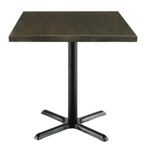"""Urban Loft Table with 30"""" Top, Espresso with X Base"""