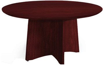 "Mayline Medina Laminate 48"" Round Conference Table Mahogany Finish"