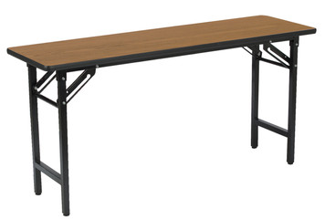 """Oak Folding Table, 18"""" x 60"""""""