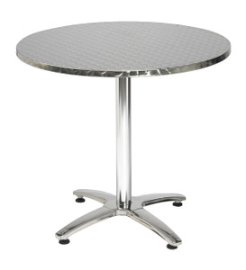 Stainless Steel Pedestal Table, round