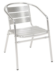Natural Aluminum Stacking Chair