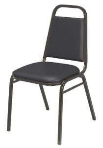 IM Series Stacking Event Chair, Black Vinyl