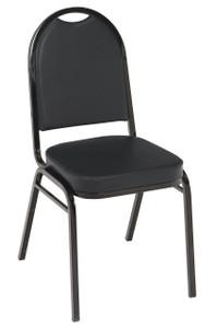 IM 520 Stacking Event Chair, Black Vinyl