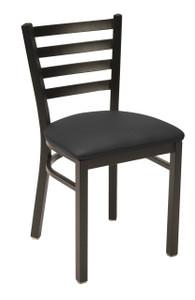 IM 3316 Cafe Chair, black vinyl