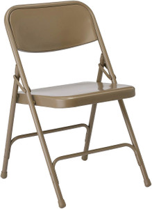 Steel Folding Chair, beige