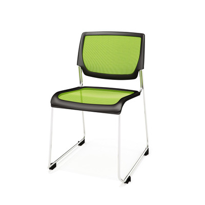 Kimball Poly Stackable Mesh Side Chair, Kiwi