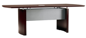 Mayline Napoli Wood Veneer 6' Conference Table With Mahogany Finish