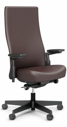 high back leather office chair knoll leather chair