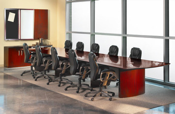 Napoli Wood Veneer Conference Table OfficeChairsUSA - Napoli conference table