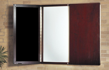 Mayline Napoli Wood Veneer Presentation Board with Mahogany Finish