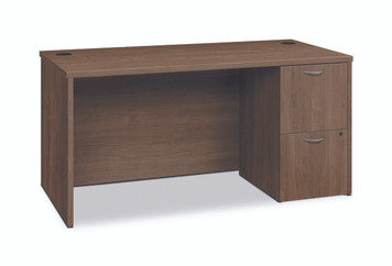 Foundation Small Office Single Pedestal Desk, Pinnacle
